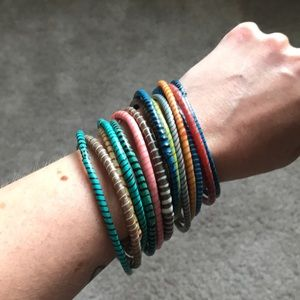 Erica Wilson Recycled Rubber Bracelets